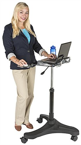 Sit-Stand Rolling Laptop Workstation