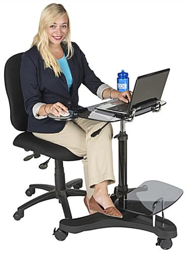 Sit To Stand Rolling Workstation with Ergonomic Design