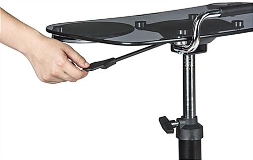 Sit To Stand Rolling Workstation with Height Adjustable Knob & Lever