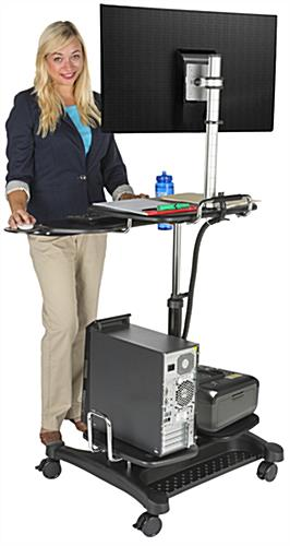 Stand Up Mobile Workstation with Keyboard Shelf