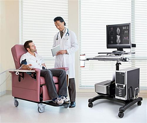 Mobile PC Workstation for Medical, Business, or Home Use