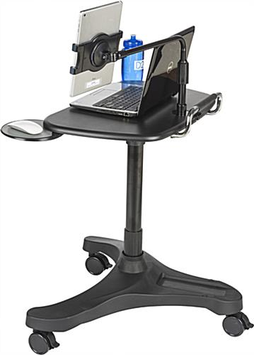 Rolling iPad Workstation with Tablet Holder
