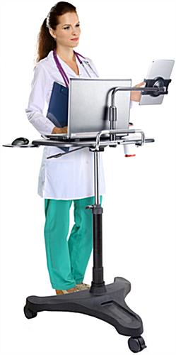 Rolling Ipad Workstation Universal Compatibility