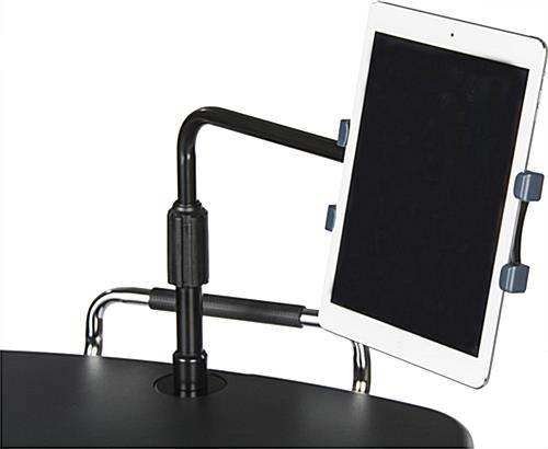 Rolling iPad Workstation  with Height Adjustable Tablet Holder