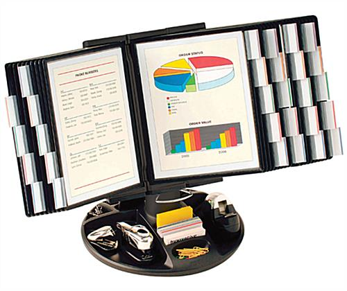 Reference organizer desktop accessory tray included - Desk reference organizer ...