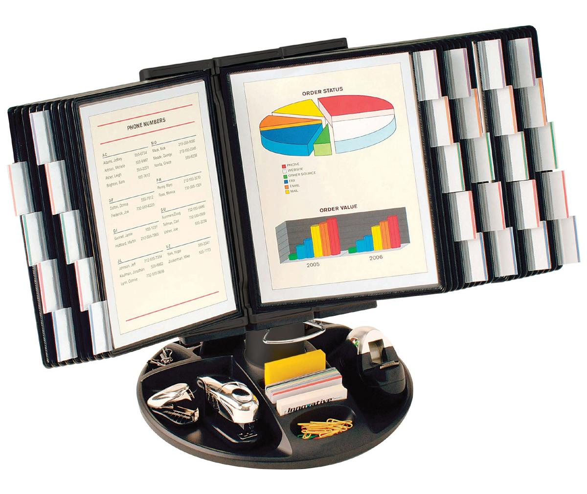 Reference Organizer Desktop Accessory Tray Included
