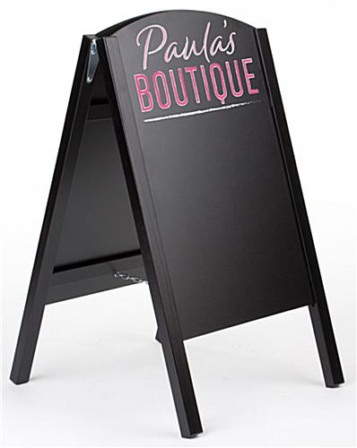 Chalkboard easel with custom printed graphic header