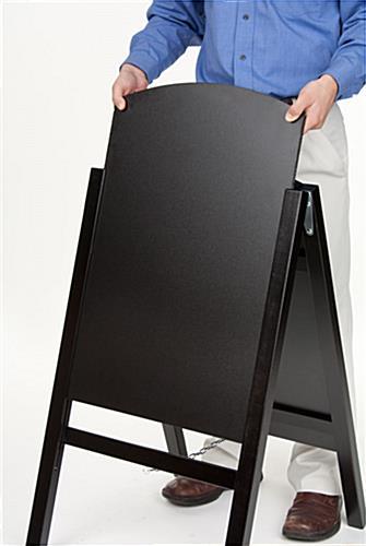 Chalkboard Easel Wet Erase Board For Stick Or Liquid Chalk