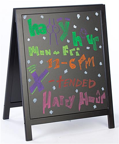 chalkboard sidewalk sign
