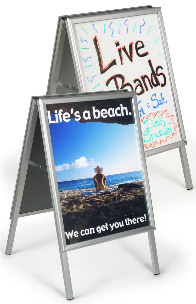 Frame Sidewalk Signs : Aluminum Frame for Posters or Write-On Board