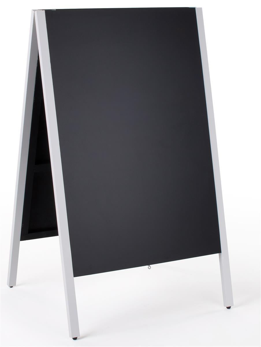 A-Frame Chalkboard | Wet Erase Write-On Display - White Frame