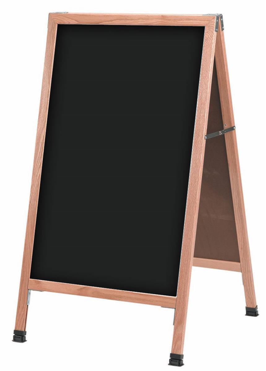 Very Write-on A-frame Chalkboard | Wooden Sidewalk Sign BA37
