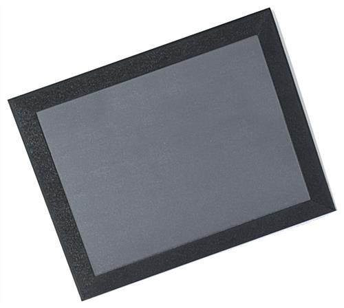 Countertop Poster Mats With Black Border Lens Cover