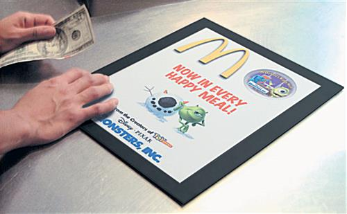 Countertop Poster Mats for Store Registers