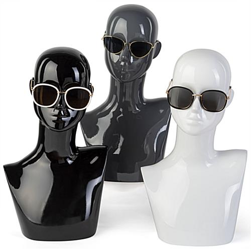 Black Female Mannequin Bust in Abstract Style