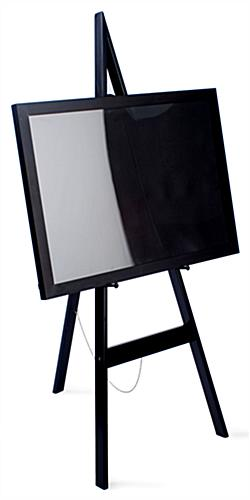 """easel stand 60""""h in a black finish to easily match any environment"""
