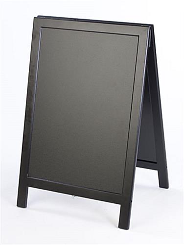 Chalkboard Signs | Black Wooden Frame - Double-Sided