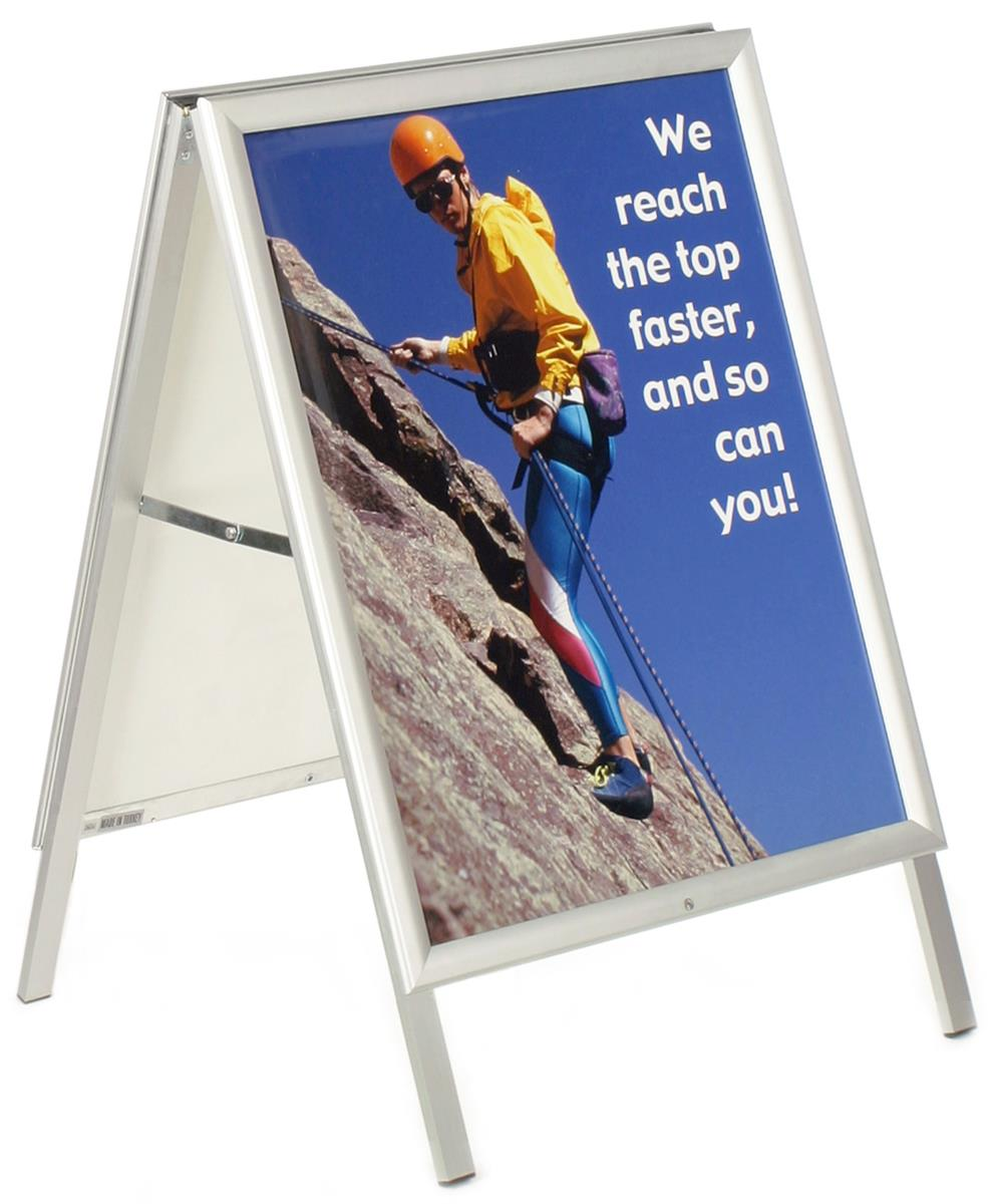 Displays2go 22 x 28 Sidewalk Sign for Posters, Hinged Edg...