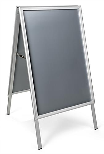 Double sided folding a-frame sidewalk sign