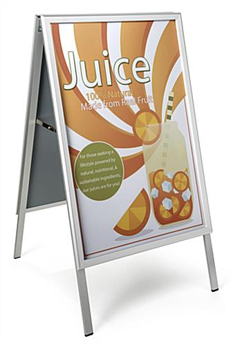 "Folding a-frame sidewalk sign fits 24"" x 36"" poster"