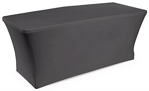 Complete Exhibit Package with Black Stretch Table Cover
