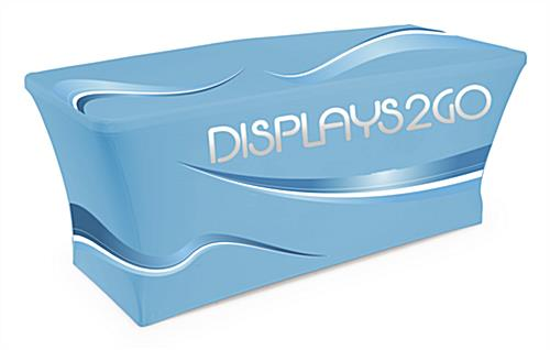 Custom Exhibit Booth with Full Print Table Cover