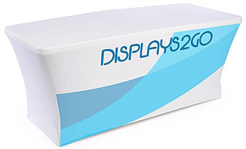 Custom Display Booth with Front Print Stretch Table Cover