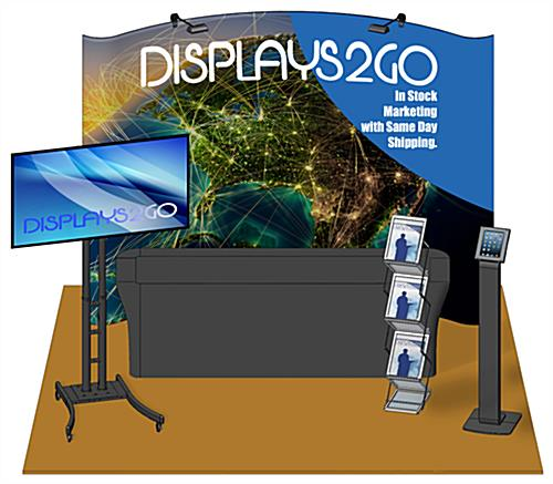 10 x 10 Trade Show Booth Kit, 6 Piece Set