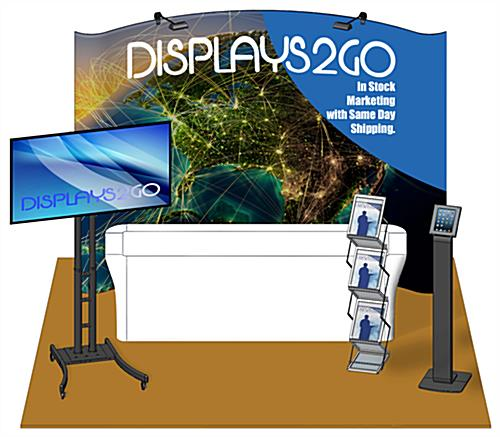 10 x 10 Trade Show Booth Package with Printed Backdrop Banner