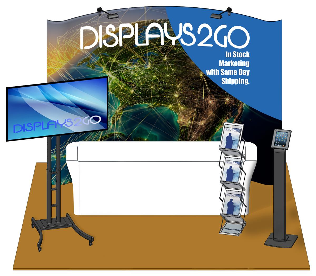 Exhibition Booth Clipart : Trade show booth package printed banner with