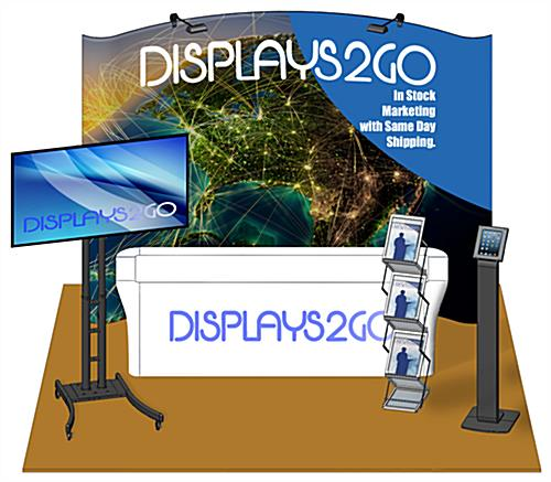 10 x 10 Exhibit Booth Kit with Front Printed Table Cover