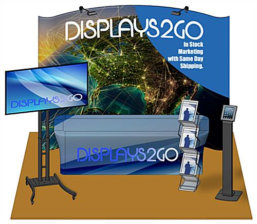 Complete 10 x 10 Exhibit Booth with Full Print Cover