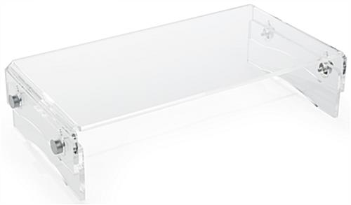 Clear Monitor Riser, 10mm Thick