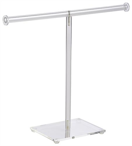 T Bar Necklace Display Acrylic Jewelry Stand For Long Chains