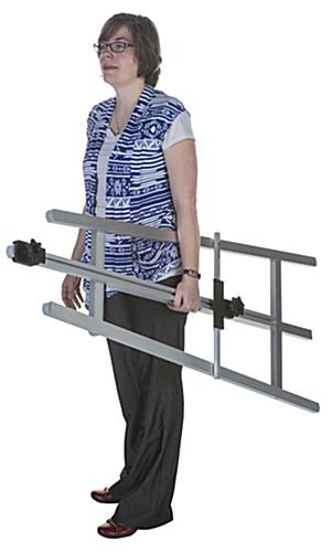 Portable Silver Metal Fold-Up Easel