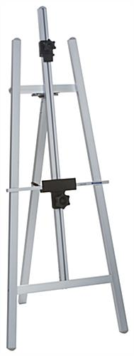 Silver Metal Fold-Up Easel with Adjustable Bars
