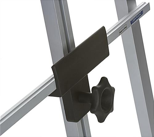 Silver Metal Fold-Up Easel with Black Knobs for Adjustment