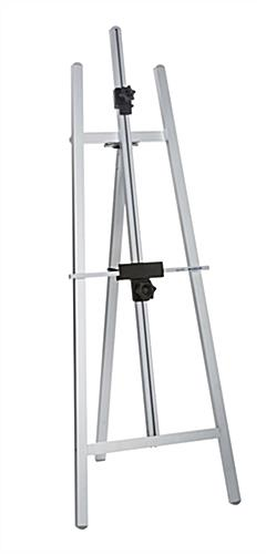 Silver Folding Metal Easel With Non-Skid Feet