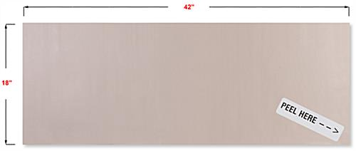 Repositionable copper antimicrobial protective film with adhesive backer
