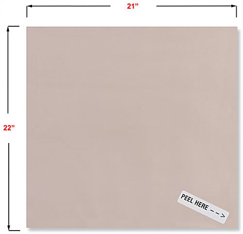 21 inch wide antimicrobial copper shielding covering with adhesive backer
