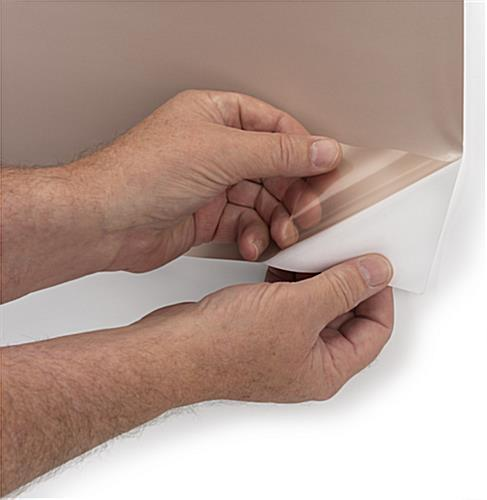 Removable antimicrobial copper shielding covering with repositionable backing