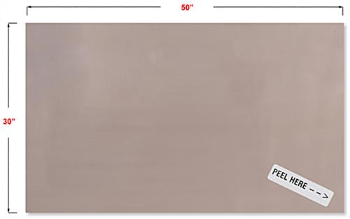 30 inch long copper antimicrobial adhesive sheet with adhesive backer