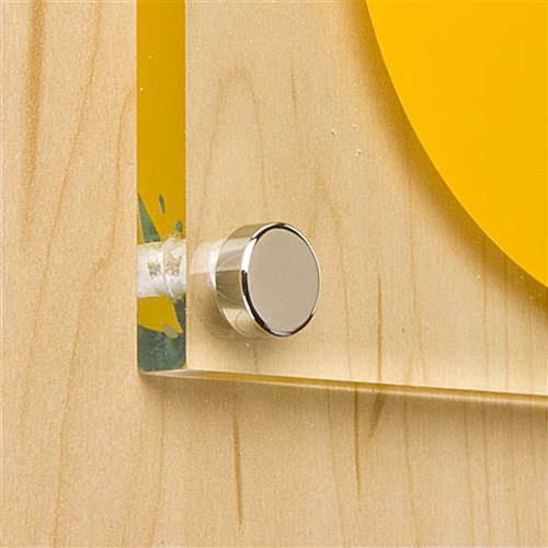 Screw Cap Covers Chrome Sign Wall Mount Displays