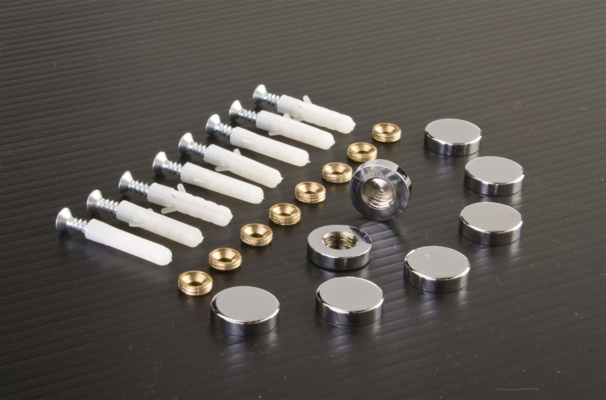 Chrome Screw Covers Wall Mounting Sign Holders