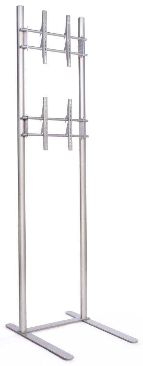 Displays2go Extra Tall TV Stand with 2 Mounts for Monitor...