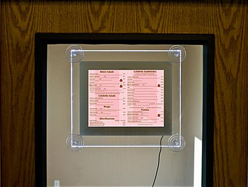 Edge-Lit Menu Holder