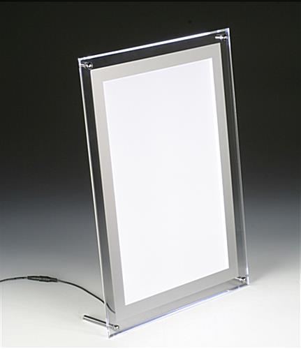 Slim Light Box Countertop Or Wall Mount Frame