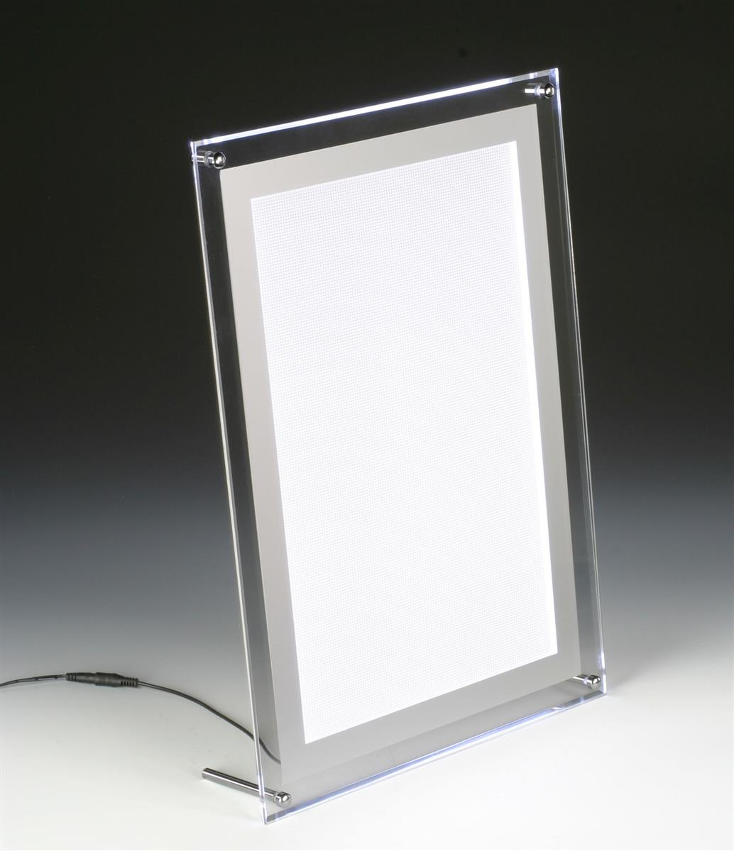 Wall Hung Light Box : Slim Light Box Countertop or Wall Mount Frame