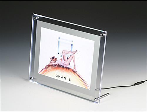 Backlit Picture Frame 8-1/2u0026quot; x 11u0026quot; LED Illuminated Panel