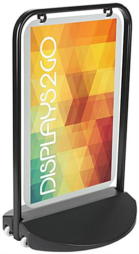 Swinger Pavement Sign with Versatile Display Options for Panels